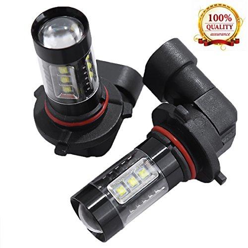 LED Headlight Bulbs 6000K White For Honda ATV TRX450 TRX500 Foreman Rubicon (Pack of 2) (Honda Headlight Rancher 2007)