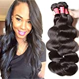 ALI JULIA Hair 10A Brazilian Virgin Hair Body Wave 3 Bundles 100% Unprocessed Virgin Brazilian Wavy Human Hair Weave Extensions 95-100g/pc (12 14 16inch)