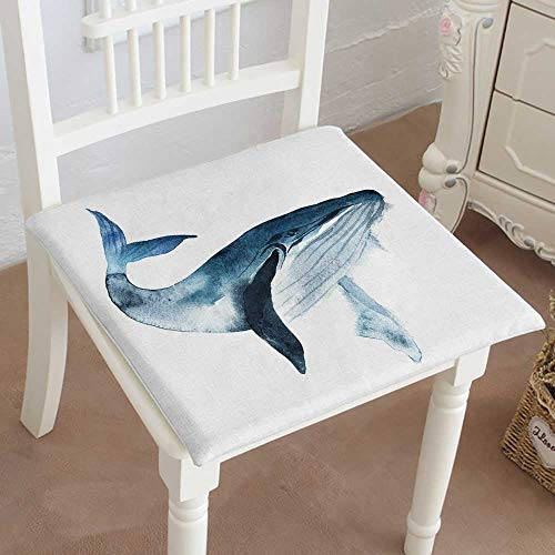 - Mikihome Premium Comfort Seat Cushion Whale Painted Isolated on White Background Realistic Underwater Cushion for Office Chair Car Seat Cushion 14