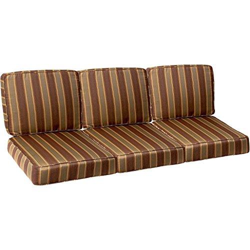 BBQGUYS Sunbrella Davidson Redwood Small Outdoor Replacement Sofa Cushion Set - 23w Cushion Outdoor