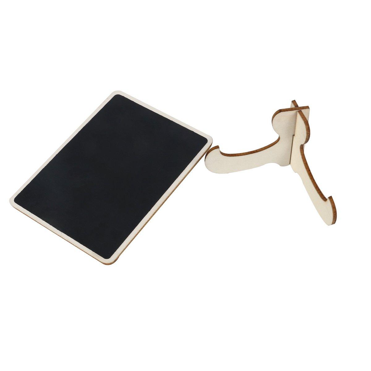 Supvox Mini tablero de mensaje de la pizarra caballete signo de pizarra de madera con soporte para etiquetas de mesa de boda