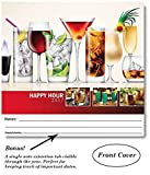 """Happy Hour Cocktails 2018 Wall Calendar - World of Mixology 18.5"""" x 10.5"""" (Open)"""