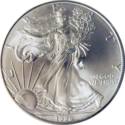 (1996 Us 999 Silver Eagle Ounce Oz $1 Dollar)