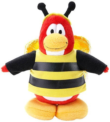 (Disney Club Penguin 6.5 Inch Series 14 Plush Figure Bumble Bee Includes Coin with Code!)