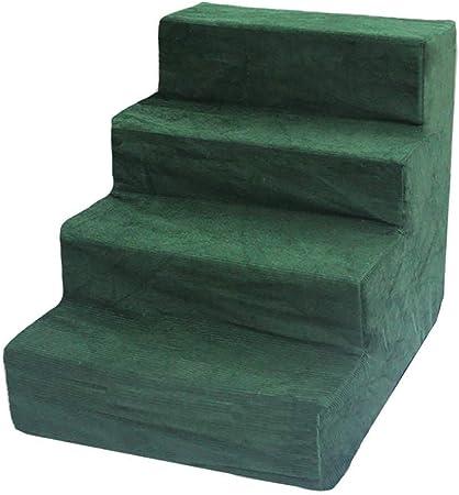 Siempre insiste en el éxito Escalera para Perros 4 Pasos para escaleras para Gatos/Perros para Cama Alta de sofá, Funda Lavable portátil removible (Color: Verde): Amazon.es: Hogar