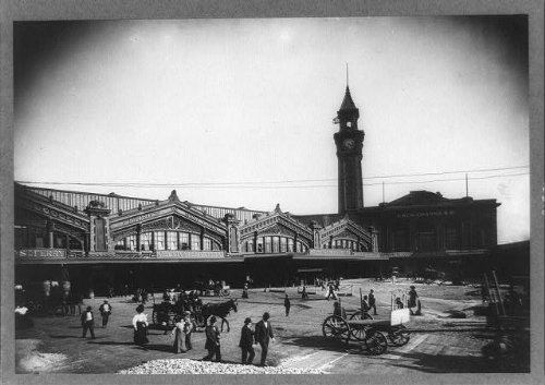 Infinite Photographs Photo: Ferry Building,Lackawanna Railroad Station,Tower,Hoboken,New Jersey,NJ,1907