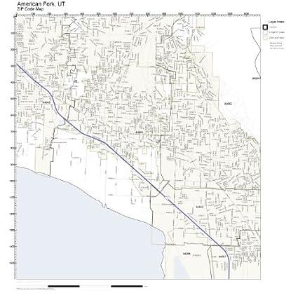 Amazon.com: ZIP Code Wall Map of American Fork, UT ZIP Code Map