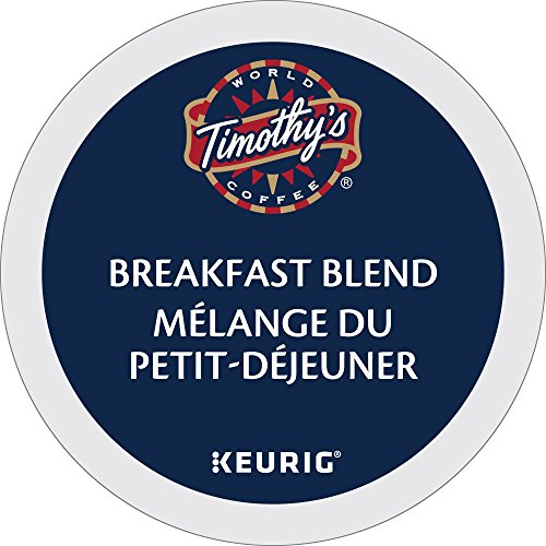 Timothy's World Coffee, Breakfast Blend, K-Cup Portion Pack for Keurig K-Cup Brewers 24-Count, 8.4 oz, (Pack of (Timothys Breakfast Blend Coffee)