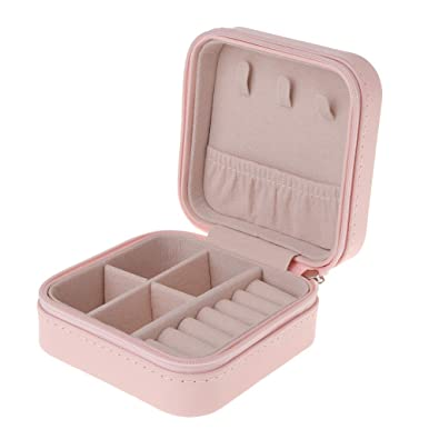 siwetg Caja de joyería Organizador de Almacenamiento portátil Cremallera Mujer portátil Estuche de Viaje con Pantalla (Naranja): Amazon.es: Joyería