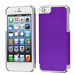 MYBAT Rubberized Grape/Silver Plating MyDual Back Protector Cover for APPLE iPhone 5
