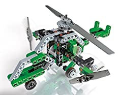 Discover the mechanics of vehicles with this fantastic construction kit. Build 2 dynamic vehicular models to discover how gears work.Over 130 components with cogs and universal joints that really work, watch as these machines come to life! Th...