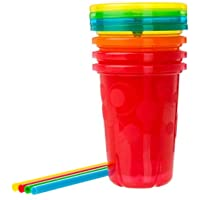 4-Pack The First Years Take & Toss Spill Proof Straw Cups, 10 Ounce