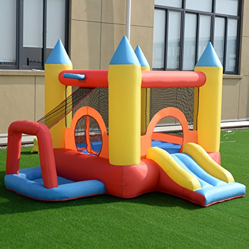Costzon Inflatable Bouncer Jumping Castle Moonwalk Slide
