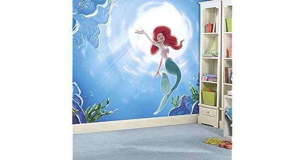 Amazon.com: RoomMates jl1370 m Princesas Disney La Sirenita ...