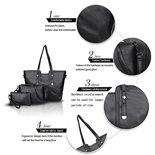 Sdinaz 2018 New Women's Handbag Vintage Cross Shoulder Bag Fashion Messenger Bag Wallet black sGpdlSVI