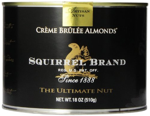 Squirrel Brand Nuts, Creme Brulee Almonds, 18 Ounce Can