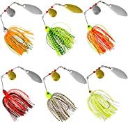 Spinner Baits for Bass Fishing Lure Kit Buzzbait Spinnerbait Hard Spinner Lures Metal Jigs Lure Bass Pike Fish