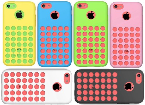 Iphone 5c Yellow With Pink Case