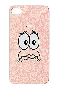 Sad Face Silver Cartoon Hero Sadness Funny Smile Smiley Patrick Cartoon Crying Mood Morose For Iphone 4/4s TPU Case