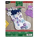 Bucilla 86703 Frosty Night - Kit de calcetín de fieltro, 45,7 cm