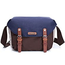 DSLR Camera Bag for Women, Camera Bag Waterproof insert Sling for Canon Rebel 70d Nikon Sony a6000 Mirrorless Digital Camera Case and Bags (Blue)