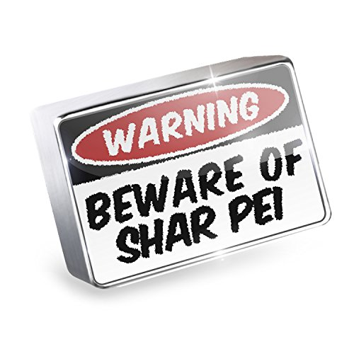 Floating Charm Beware of the Shar Pei Dog from China Fits Glass Lockets, Neonbl - Shar Pei Dog Charm