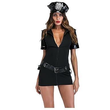 Disfraz de policía Sexy de Spick Kiss para Mujer con Esposas y ...