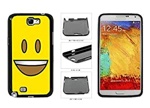 Bright Yellow Eyes Open with Teeth Face Plastic Phone Case Back Cover Samsung Galaxy Note II 2 N7100 wangjiang maoyi by lolosakes