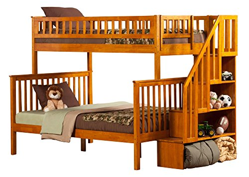 Atlantic Furniture AB56707 Woodland Staircase Bunk Bed