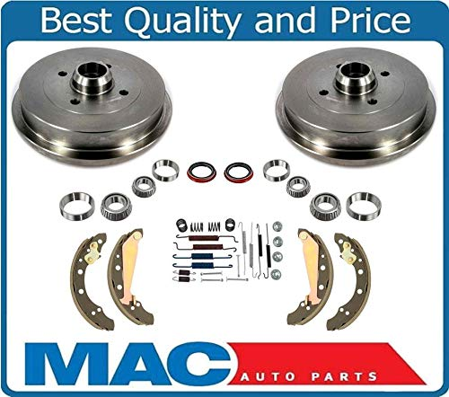 Volkswagen Brake Drum - 1989-1999 Cabrio Jetta Golf Brake (2) Drum Drums Shoes Bearings 10Pc Kit