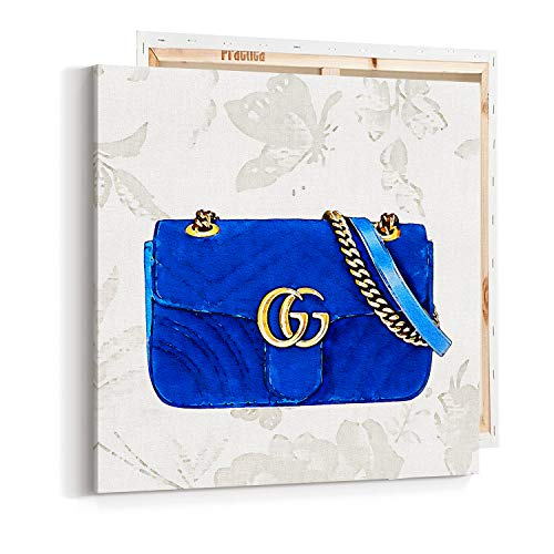 (Wall Art Pop Art on Canvas - Fashion - Luxury Glam Gucci Bag - Logo- Poster - Pop Art- Wall Gallery Home Decoration 1115)