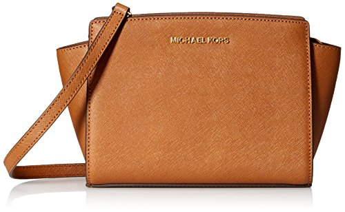 MICHAEL Michael Kors Women's Selma Medium Messenger Bag, Luggage, One Size