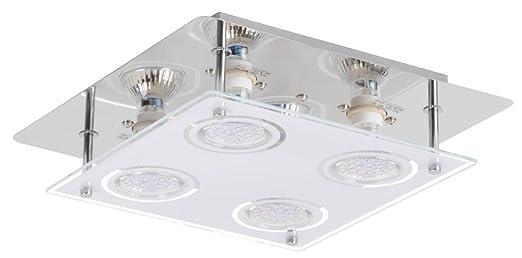 12W LED Deckenleuchte Deckenlampe Wohnzimmer Esszimmer Flur Lampe Leuchte  Globo 48966 4