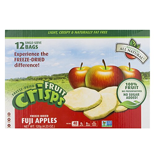 Brothers All Natural Fruit Crisps Freeze-Dried Fuji Apples - 12 PK, 4.23 OZ