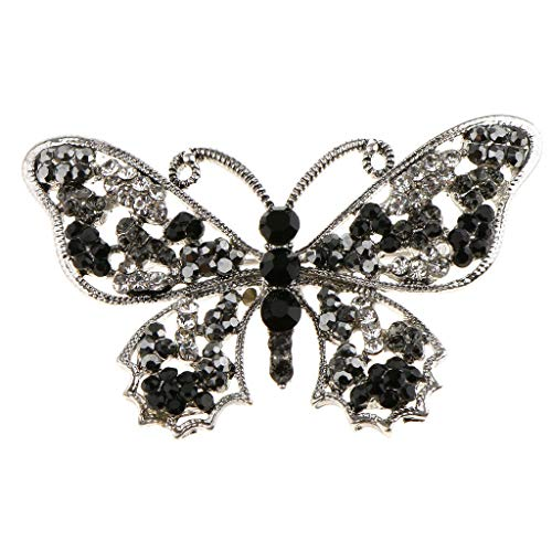 Bling Alloy Crystal Rhinestone Bee Butterfly Owl Brooch Pin Charm Jewelry (Style - Butterfly)
