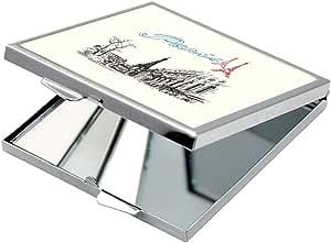 مرآة جيب، بطبعة باريس - برج ايفل ، شكل مربع