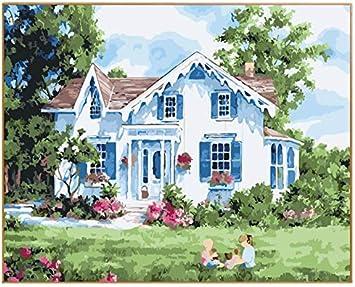 WACYDSD Puzzle 3D Puzzle 1000 Piezas DIY Fotos Nuevo Diseño Casa De Campo Jardín Pared Artes: Amazon.es: Juguetes y juegos