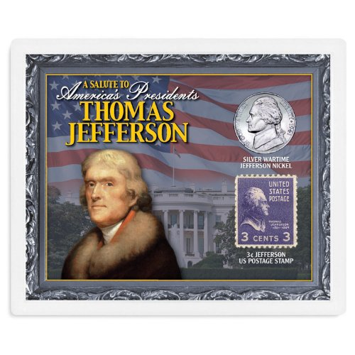 American Coin Treasures Kids - A Salute to America's Presidents Thomas Jefferson Coins & Stamps