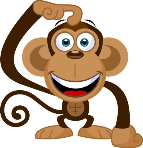 Amazon.com: Cartoon Monkey Clip Art - Cute Monkey Mascot Stock ...