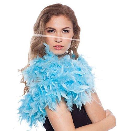 Boa de plumas Azul Claro 180cm Folat
