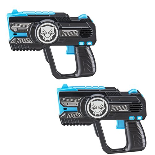 Black Panther Laser Tag Kids Infared Laser Tag Blasters Lights Up & Vibrates When -
