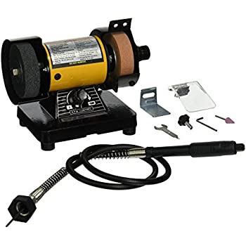 Central Machinery Bench Grinder With Flex Shaft Power