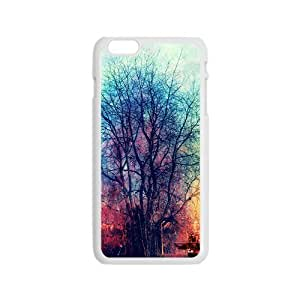 LJF phone case Artistic colorful tree oil painting Phone Case for iPhone 6