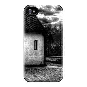 Top Quality Case Cover For Iphone 4/4s Case With Nice Lil' House Appearance