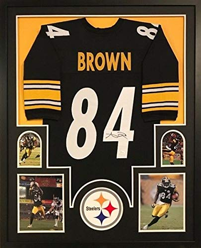 huge discount 64e22 1c48f Antonio Brown Autographed Signed Steelers 34 X 42 Custom ...