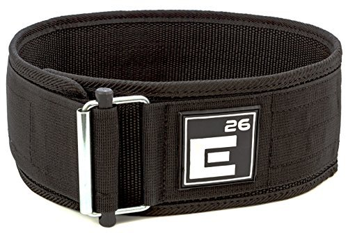 Element 26 Self-Locking Weight Lifting Belt | Premium Weightlifting Belt for Serious Crossfit, Power Lifting, and Olympic Lifting Athletes (30' - 34', Around Navel, Medium, Black)