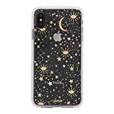 iPhone Xs Max Case, Sonix Cosmic (Gold, Silver Stars) [Military Drop Test Certified] Protective Clear Case Series for Apple iPhone Xs Max