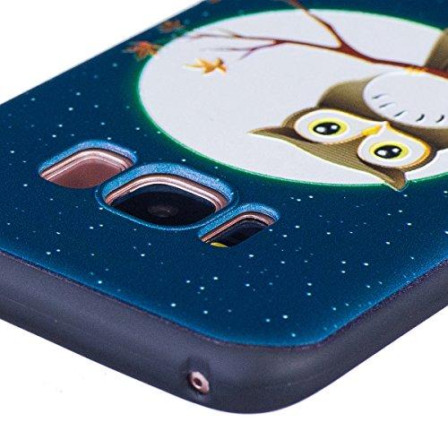 Funda Samsung Galaxy S8,SainCat Moda Alta Calidad suave de Relieve Pintura TPU Silicona Suave Funda Carcasa Caso Parachoques Diseño pintado Patrón para Carcasas Samsung Galaxy S8 TPU Silicona Flexible Halcón en el árbol