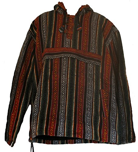 Fair Trade Mens Heavy Cotton Polar Lined Gheri Jumper / Hooded Top from Nepal (Heavy Hooded Top)