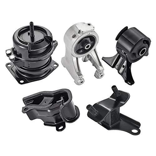 Engine Motor Mount Fits 1999 2000 2001 2002 2003 2004 Honda Odyssey 3.5L A4518 A4519HY A6552 A6579 A6582 Aluminum Engine Mount Set